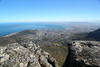 Wide shot of Cape Town from Table Mountain